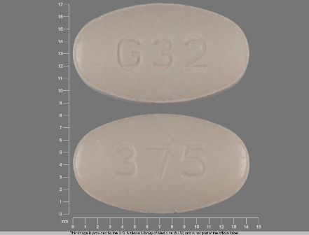 G 32 375: (68462-189) Naproxen 375 mg Oral Tablet by Carilion Materials Management